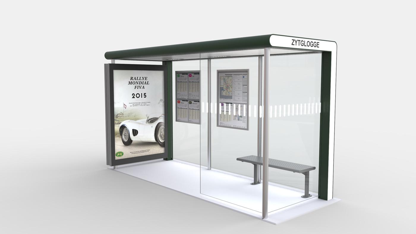 abribus zytglogge solar noventis viscom. Black Bedroom Furniture Sets. Home Design Ideas